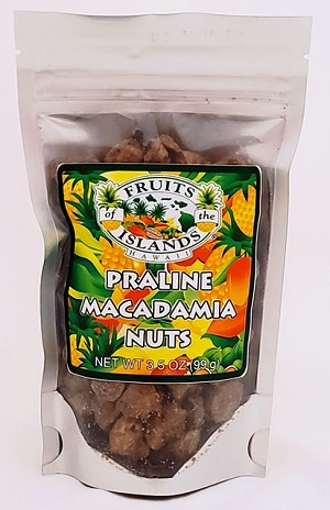 Fruits of the Islands Praline Macadamia Nuts 3.5oz