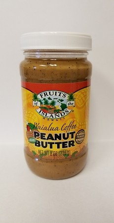 Fruits of the Islands Waialua Coffee Peanut Butter